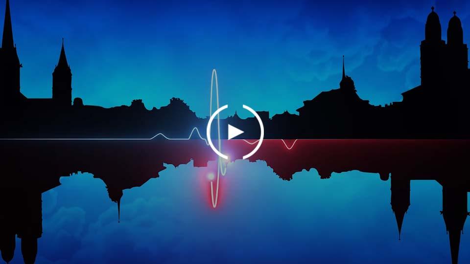Herzfrequenz Zürich Skyline